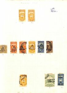 [OP6548] Peru lot of stamps on 12 pages