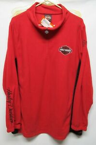 Harley Davidson women Plus size 1X Red/Black pull over long sleeve NWT Lot#24