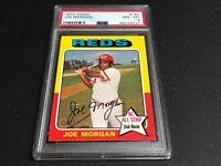 1975 Topps #180 Joe Morgan PSA 8 NM-MT fresh slabbed new holder 46049037