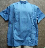 Mens tunic top Nurse Carer Dentist Workwear Vet Healthcare uniform Hospital blue