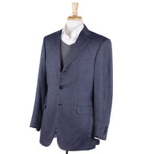 NWT $6095 BRIONI Navy-Sky Blue Patterned Cashmere Sport Coat 40 R