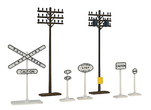 Walthers 931-803 Trainline Electrical Pole Set HO Scale