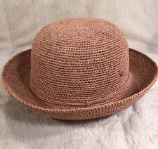 "NWT Helen Kaminski ""PROVENCE 8"" Packable Raffia Hat Women's One Size Nougat"