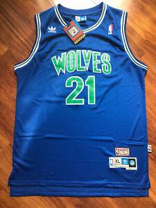 New Kevin Garnett Minnesota Timberwolves Throwback Swingman Jersey Blue S M L XL
