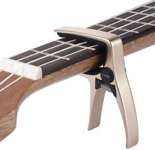 Mini Size Professional 4 String Guitar Capo, (Gold)