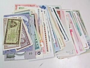 139 Foreign World Countries Bank Note Lot Collection Paper Money ALL UNC