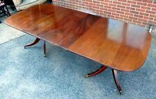 LARGE Victorian antique solid Cuban mahogany extending dining table seats 12
