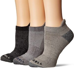 Merrell Women 248587 3 Pack Cushioned Performance Hiker Low Cut Socks Size S/M
