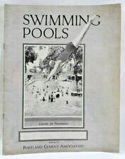 1929 Concrete Swimming Pools Product Brochure Plans Portland Cement Assn 5492F