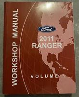 2011 FORD RANGER OEM SERVICE REPAIR WORKSHOP MANUAL VOLUME 1