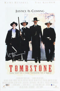 Val Kilmer Tombstone Authentic Signed 12x18 Mini Movie Poster BAS #K90993