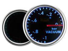Motor Meter SMOKE LED Blau Zusatzanzeige Zusatzinstrument Unterdruck Vacuum