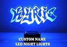 Name Light Up Night Light Lamp - 16 Color LED w/ Remote - Graffiti Name Gift LED