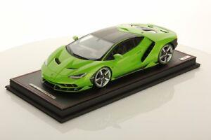 MR Collection Lamborghini Centenario Verde Manthis with Showcase 1/18