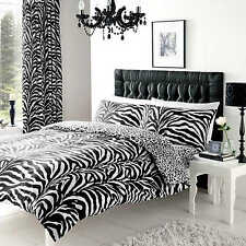 Zebra Print Double Duvet Cover Quilt Cover Bedding Set With Pillowcases Gaveno