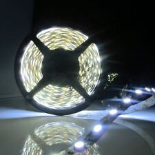5M SMD5050 White 300 LED Flexible Strip with 12V 5A Power Supply+Female Connect