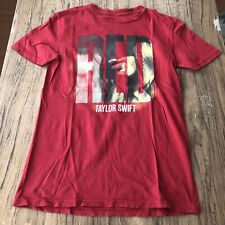 Taylor Swift Red Band Tee Shirt Size S #12459
