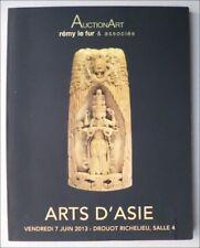 ARTS D'ASIE - CATALOGUE DE VENTE - PARIS 7 JUIN 2013