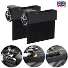 1 Pair Leather Car Seat Gap Catcher Filler Storage Box Pocket Organizer Holder