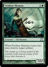VIRIDIAN SHAMAN Tenth Edition MTG Green Creature — Elf Shaman Unc