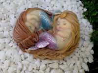 Miniature Figurine FAIRY GARDEN ~ Sleeping Little Mermaid Friends ~ NEW
