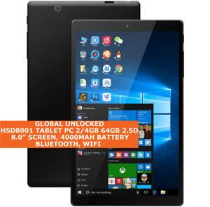 HSD8001 TABLET PC 2/4gb 64gb 2.5d 8.0 Inch Bluetooth Wifi Windows 10 Tablet
