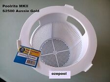 POOLRITE MK2 S2500 SKIMMER BASKET, AUSSIE GOLD SWIMMING POOL, FREE DELIVER in OZ