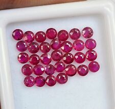 Natural Ruby Round Cut 2.50 mm Lot 10 Pcs 0.91 Cts Red Pink Shade Loose Gemstone