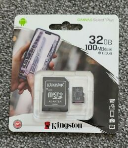 Kingston Micro SD Card SDHC SDXC Memory Card Class 10 32GB+Adapter