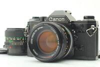 Canon AE-1 Black 35mm SLR Film Camera w/FD 50mm f1.4 28mm f/2.8 Lens From JAPAN