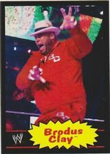 "2012 TOPPS HERITAGE WWE BLACK PARALLEL #  8 BRODUS CLAY ""TYRUS"""