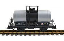 Zenner Kesselwagen, Silber-grau-schwarz, Edelstahlräder, Güterwagen für LGB