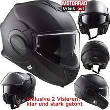 LS2 Klapphelm FF399 VALIANT NOIR Helm Motorrad inkl. gratis Visier Gr. M 57/58