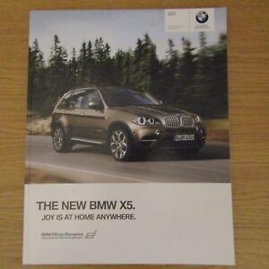BMW X5 xDrive50i 4.4 xDrive30d xDrive40d 3.0 xDrive 30d 40d E70 UK Brochure 2010