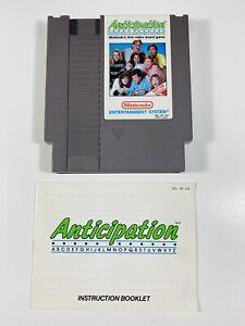 Anticipation -- NES Nintendo Original Game + INSTRUCTIONS MANUAL BOOKLET