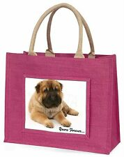Shar-Pei Puppy 'Yours Forever' Large Pink Shopping Bag Christmas Pres, AD-SH3BLP