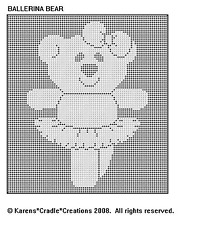 Ballerina Bear Filet Crochet Pattern
