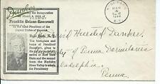 FREE FRANKED HYDE PARK FDR INAUGURATION COVER 3/4/1933, FRANKLIN D. ROOSEVELT