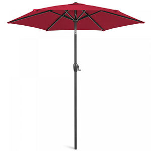 New 7.5ft Heavy-Duty Outdoor Market Patio Umbrella w/ Tilt, Easy Crank Lift