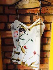 BNWT Vert Menthe Ted Baker Imprimer Haut Doux Taille S Femmes Floral Pastel Cami 1