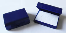 Schmuckschachtel blau mit Einlage für 3 Ringe L 7,5 x B 5,5 x H 3,0 cm NEU
