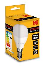 3 X KODAK LED GOLF BALL G45 BULB E14 3W/25W WARM GLOW (ENERGY CLASS A+)30415577