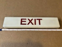 United Airlines Boeing 747 Exit Sign Light
