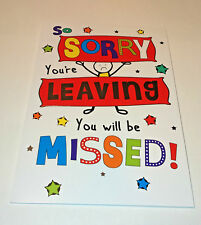 SORRY YOU'RE LEAVING YOU WILL BE MISSED CARD Job Change ALL THE BEST FOR FUTURE