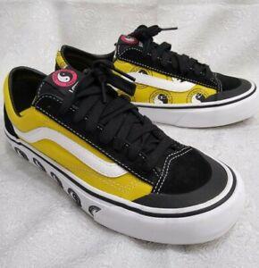 Vans x T&C Surf Design Style 36  Black/Yellow/White Shoes M-7  W-8.5