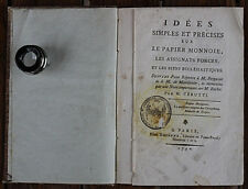 French rare book. about paper money,assignation and ecclesiastical goods.1790 y.