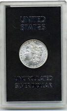 GSA HARD PLASTIC UNCIRCULATED SILVER DOLLAR HOLDER CONTAINING 1885-O $1.00