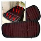 Zone Tech 2x Heated Black Rear Back Seat Chair Car Cushion Pad Hot Cover Warmer