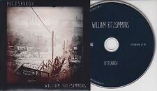 WILLIAM FITZSIMMONS Pittsburgh 2015 UK 7-track promo CD
