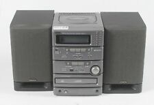 Denon D-C1 Radio CD Cassette Component Stereo System w/ Speakers ; ABTE 615138